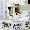 供应创意办公桌收纳盒梳妆盒桌面木质化妆盒抽屉式浴室储物盒整理盒