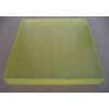 供应浅黄色PU板 耐磨 耐油优力胶卷板规格300*300 500*500mm