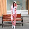 供应厂家直销2015秋冬新款卫衣女式时尚休闲修身显瘦长袖运动套装