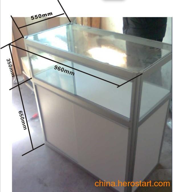 供应折叠玻璃柜台-玉器展示柜-临时展示台-玻璃展示柜