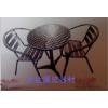 供应铝合金不锈钢洽谈桌-铝合金椅子-展会展览专用-接待桌椅
