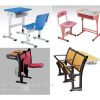 供应多媒体学生课桌椅生产厂家//升降课桌椅