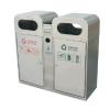 供应麦穗环保P-H106不锈钢户外分类垃圾桶