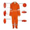 供应橙色黄色荧光连体服荧光夹克上衣
