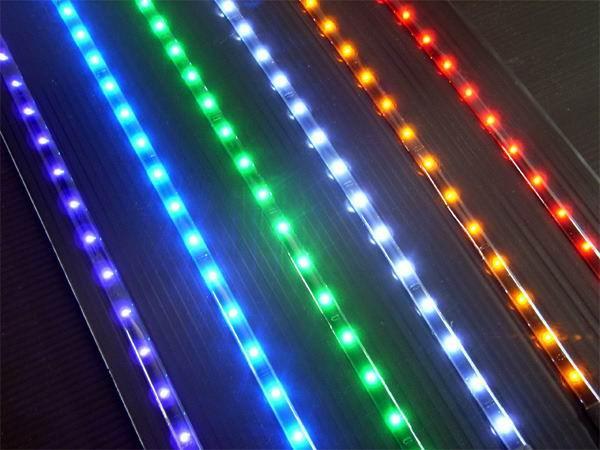 供应LED防水加工软灯条3528滴胶防水加工