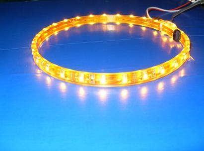 供应3528套管滴胶软灯条LED灌胶防水灯条