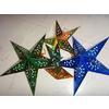 批发供应圣诞节,装饰布置金色立体五角星