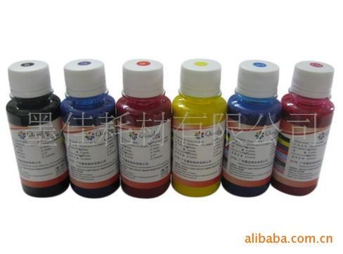 供应6色EPSON 1390 230 210 1400 t50颜料墨水 防水防晒墨水