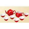 供应西安商务赠品 陶瓷工艺品 红瓷茶具