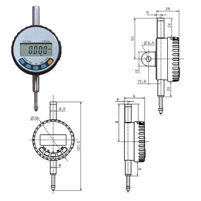 供应国产IP65数显千分表(12.7mm)