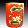 供应中国红瓷笔醴陵红瓷价格茶具中国红瓷茶具