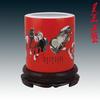 供应中国红瓷笔醴陵红瓷价格茶具红瓷
