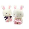 供应礼服情侣兔子广州毛绒玩具