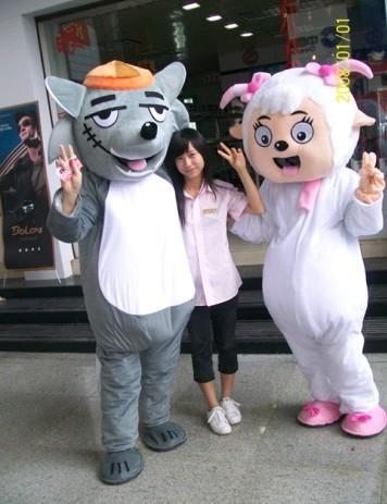 供应广东深圳出租定做喜洋洋灰太狼卡通人偶服装服饰