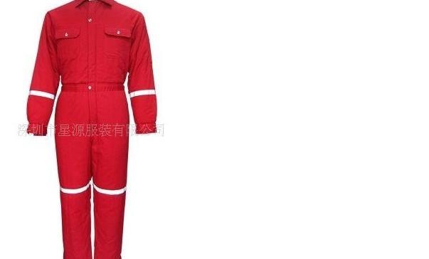 防静电纯棉联体防寒服、进口面料防火阻燃防静电防寒服装