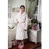 厂家直销货号8107白色夹棉超柔压花时尚女款家居服睡衣批发