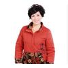 冬装中老年女装外套气质妈妈装绣花棉服立领