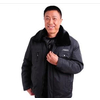 新款冬装外套棉服毛领防寒服中年男装可卸内胆
