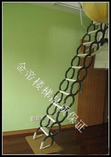 供应电动阁楼伸缩楼梯 阁楼伸缩楼梯装修效果图 阁楼楼梯图片