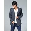 2011秋装新款韩版男装呢料男士风衣男大衣男毛呢外套男一件起
