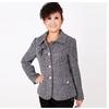 艾力雅1202中老年服装2011中年女装 妈妈装短外套圆领盘