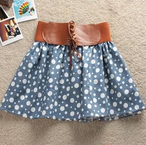 夏季新款百搭半身裙 百褶裙