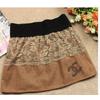 韩版春装可爱蕾丝短裙镶钻时尚百搭小短裙