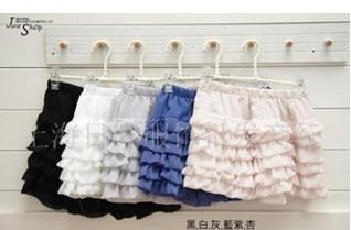供应批发新品女裙041#韩版雪纺蛋糕短裙半身裙