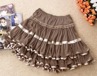 供应新款短裙 半身裙 淑女层层蛋糕裙