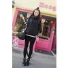 秋冬2011韩版新款女装 斗篷卫衣女开衫 复古气息拉链磨毛堆
