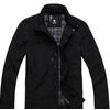 LOVINJK秋季新款男装黑色时尚商务立领中长款夹克外套