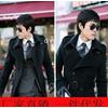 新款 时尚型男韩版长款双排扣风衣大衣外套 品牌服装代理加盟