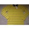 男装彩条T恤,休闲男装,条纹款男装POLO领长袖T