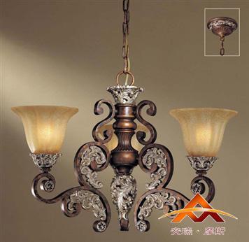供应安瑞*摩斯 柏丽欧式美式古典 02705BH简约餐厅吊灯