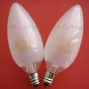 供应水晶吊灯装饰灯 220v 25w e12 烛形磨砂
