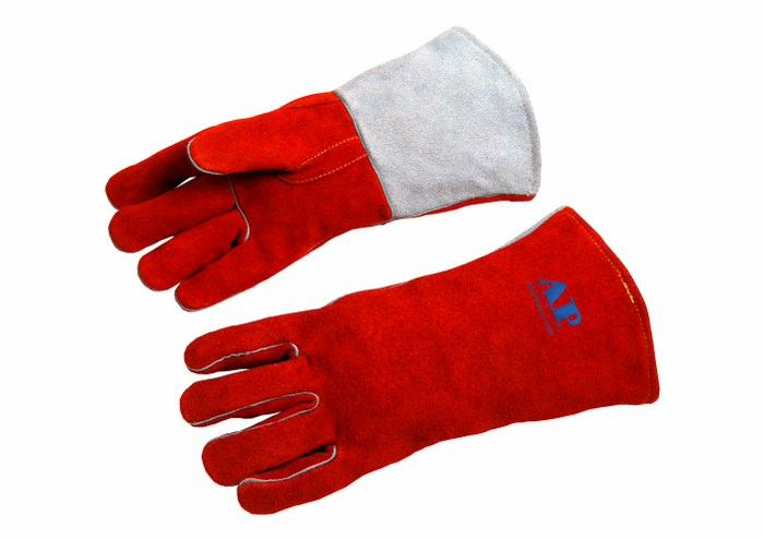 供应锈橙色烧焊手套
