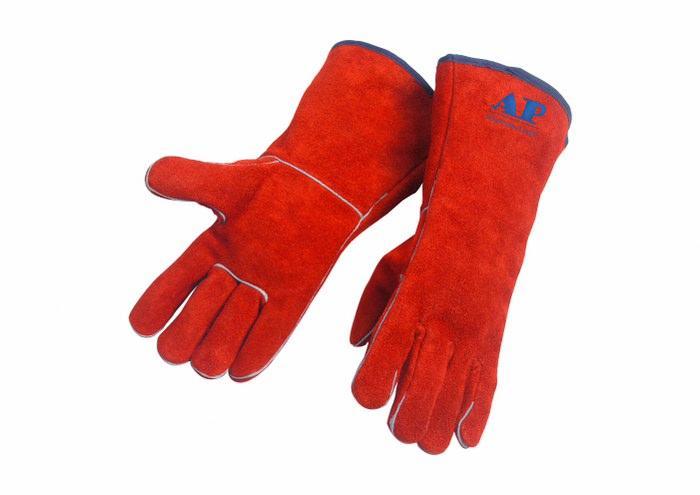 供应锈橙色烧焊手套2102