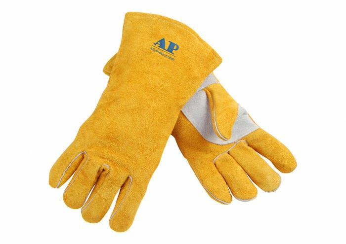 供应金黄色护掌烧焊手套