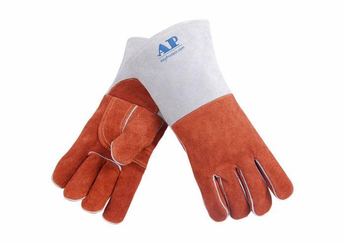供应咖啡色耐高温皮手套