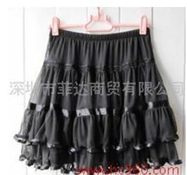 供应秋装新款蕾丝短裙荷叶边纱裙子打底裙半身裙蛋糕裙