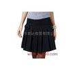 供应织朵小蝴蝶结黑色羊毛呢短裙子大码百褶裙半身裙