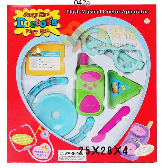 供应儿童过家家灯光医生玩具 小小医生/医具/医疗玩具/小医生玩具