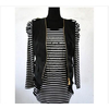 供应2011靓妈时尚新款春秋装 中年女士套装 妈妈条纹两件套