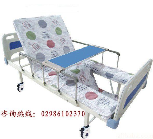 供应航天铝型材铝合金可折叠护栏护理床|西安永兴三摇翻身护理床
