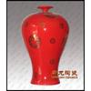 供应景德镇陶瓷中国红工艺瓷,收藏陶瓷中国红陶瓷花瓶批发