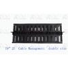 厂家供应:1U双面理线架,塑料理线架双面1U,塑料双面