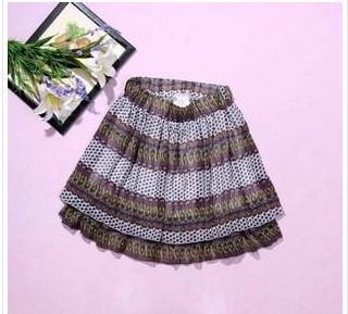 波西米亚印花多层雪纺裙蛋糕裙Dg717A