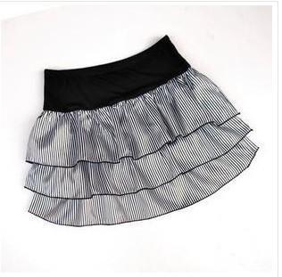 特价批发促销/外贸松紧腰带日式蛋糕裙Dg606-只有黑色和咖