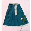 外贸女装日单淑女款纯色两件套百褶裙半身裙中裙Dg528