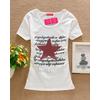 供应韩版女式短袖T恤 东莞虎门厂家直销女式短袖T恤 印花短袖T恤